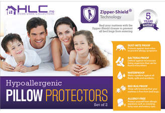HLC.ME Bed Bug Proof Zippered Pillow Protector