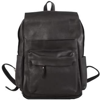 EAZO - Genuine Leather Vintage Look Backpack in Black