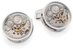 Tateossian Skeleton Slim Round Gear Cufflinks