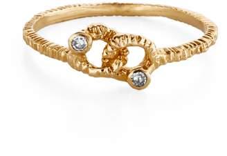 Danielle Welmond Gold & Diamond Knot Ring