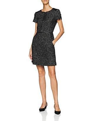 6776355588b ... Karen Millen Women's Tweed and Leather Dress,8 (Size:UK ...