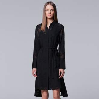 Women's Simply Vera Vera Wang Novelty Shirt Dress