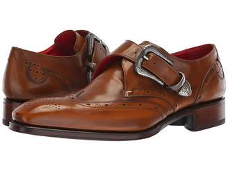 Jeffery West Taboo Coop Hammered Buckle Monk Shoe