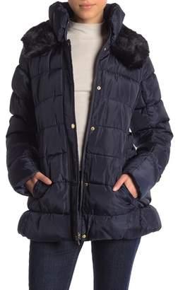 Via Spiga Faux Fur Trimmed Down Jacket