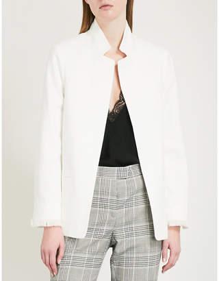 Zadig & Voltaire Volly peak-lapel cotton-blend blazer