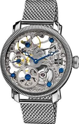 """Akribos XXIV Men's AK526SS""""Bravura"""" Mesh Mechanical Bracelet Watch"""