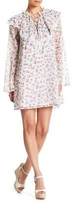 Endless Rose Ruffled Long Sleeve Floral Mini Dress