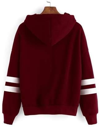 NINGJING Fashion-hoodies NINGJING Women Long Sleeve Sweatshirt Jumper Hooded Pullover Tops Blouse