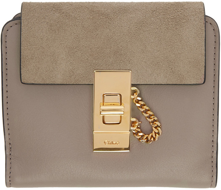 Chloé Chloé Grey Square Drew Wallet