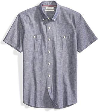 Goodthreads Men's Standard-Fit Short-Sleeve Chambray Shirt