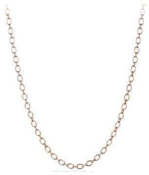 David Yurman Oval And Cable Link Chain Necklace In 18K Rose Gold