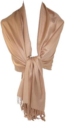 CTM® Women's Classic Pashmina Wrap Scarf Shawl (Pack of 2)