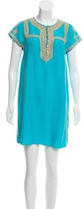 Calypso Embroidered Mini Dress