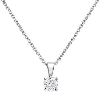 Bloomingdale's Diamond Solitaire Necklace in 14K White Gold, 0.50 ct. t.w. - 100% Exclusive