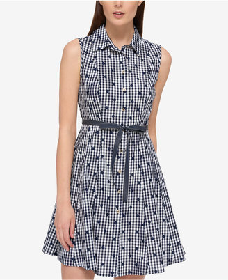 Tommy Hilfiger Cotton Printed Shirtdress, Only at Macy's $99.50 thestylecure.com