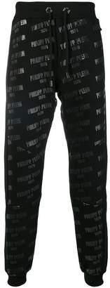Philipp Plein logo drawstring track trousers