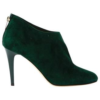 Jimmy Choo Green Suede Ankle boots