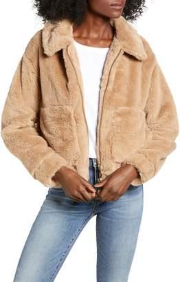 4SI3NNA Teddy Faux Fur Jacket