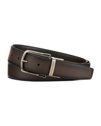Ermenegildo Zegna Reversible Calf Leather Belt