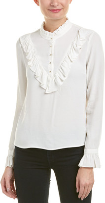 7 For All Mankind Seven 7 Ruffle Blouse