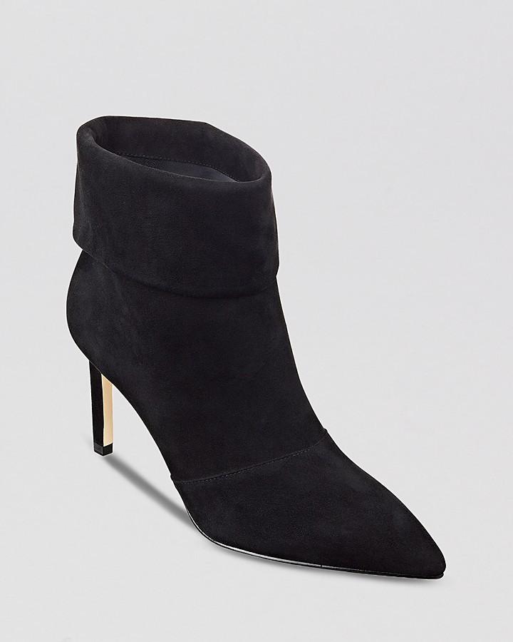 Ivanka Trump Pointed Toe Booties - Anders Dress High Heel