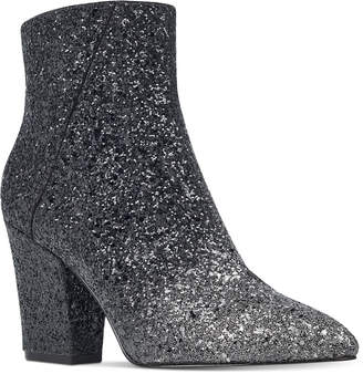 Nine West Savitra Block-Heel Booties Women's Shoes