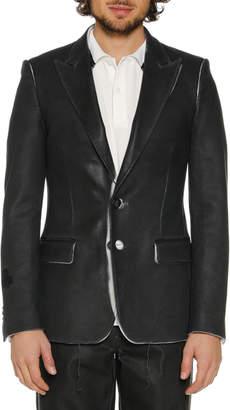 Off-White Off White Men's Skinny Leather-Like Blazer