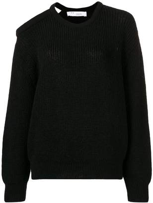 IRO rubbed shoulder cutout sweater