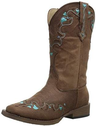 Roper Hearts Square Toe Cowgirl Boot (Toddler/Little Kid)