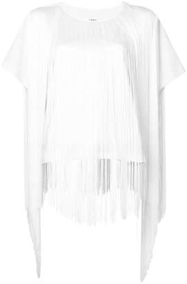 MM6 MAISON MARGIELA fringed short-sleeve blouse