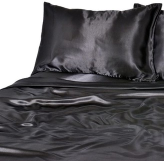 Generic Luxury Satin 100 Percent Polyester Solid Sheet Set