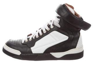 Givenchy Leather High-Top Sneakers Black Leather High-Top Sneakers