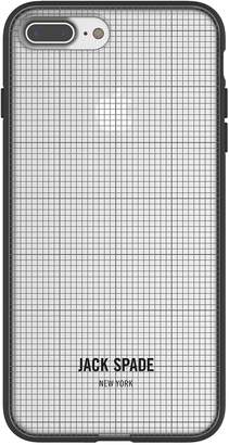 Jack Spade Comold Case for iPhone 8 Plus, iPhone 7 Plus & iPhone 6 Plus/6S Plus - Graph Check/Clear