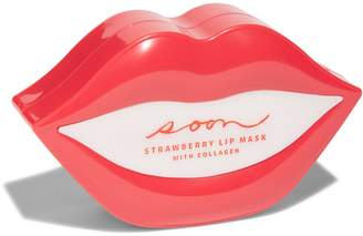 SOON SKINCARE Set of 20 Strawberry Lip Masks with Collagen