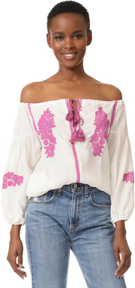 Line & Dot Alicia Embroidered Top $87 thestylecure.com