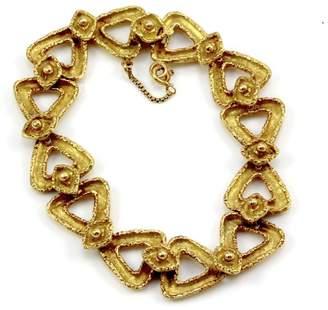 Boucheron 18K Yellow Gold Triangle Link Bracelet
