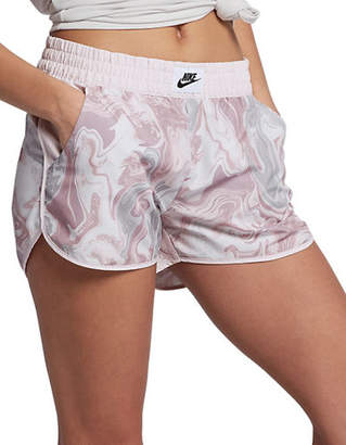 Nike Sportswear Marble-Print Shorts
