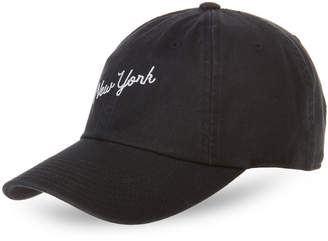 American Needle Black New York Script Baseball Cap