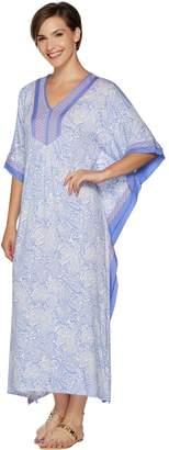 Ellen Tracy Jersey Knit V-Neck Long Caftan
