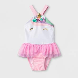 Cat & Jack Baby Girls' One Piece Swimsuit with Bow Pink
