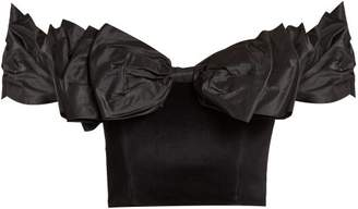 Isa Arfen Bow Wow Wow Ruffled Bustier Top - Womens - Black