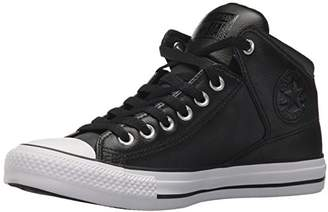 Converse Men's Street Leather High Top Sneaker Black/White