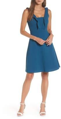 Maggy London Ruffle Neck Dress (Regular & Petite)