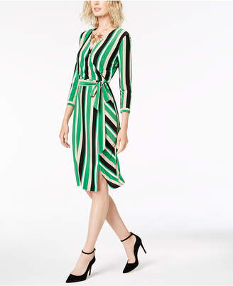INC International Concepts I.N.C. Striped Wrap Dress, Created for Macy's