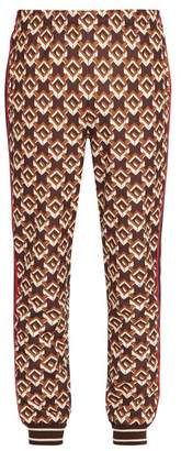 Gucci Geometric Gg Jersey Track Pants - Mens - Multi