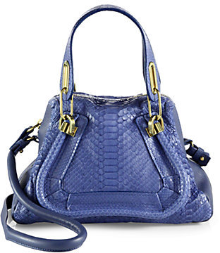 Chloé Paraty Small Python Shoulder Bag
