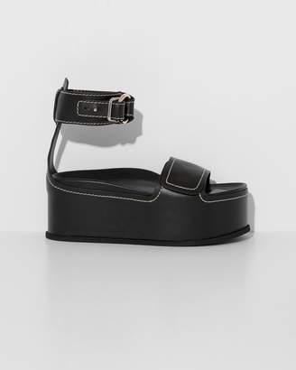 3.1 Phillip Lim Black Freida Platform Sandal