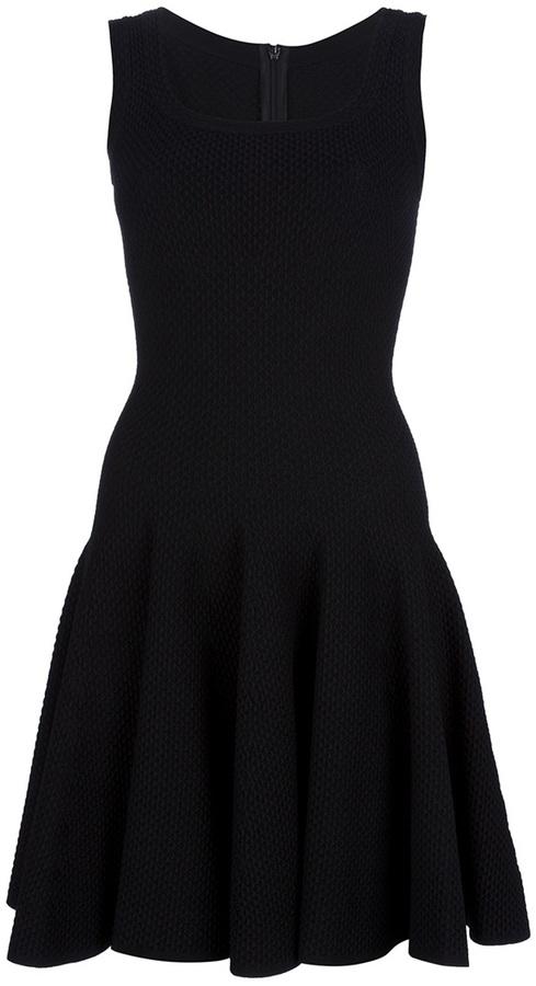 Alaia sleeveless pleat dress