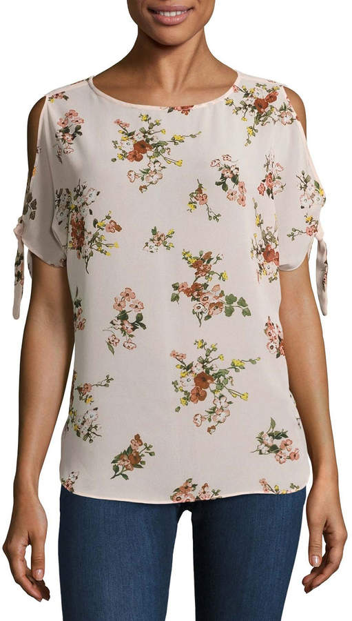 BUFFALO JEANS Buffalo Jeans Floral Cold Shoulder Tee