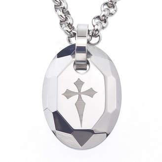 FINE JEWELRY Mens Tungsten Cross Pendant Necklace